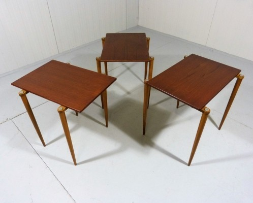 Set of 3 nesting tables from the fifties by unknown designer for Opal