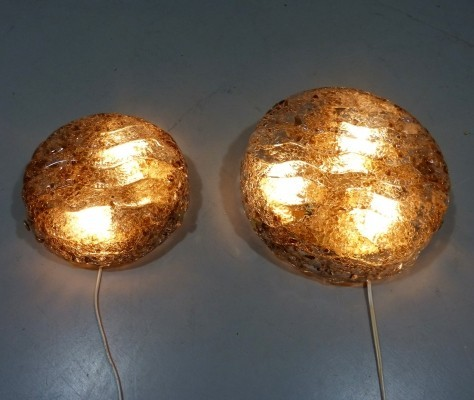 Pair of Kaiser Leuchten wall lamps, 1960s