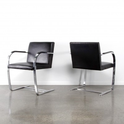 8 x Brno arm chair by Ludwig Mies van der Rohe for Knoll, 1980s