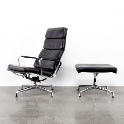 EA222 +EA223 softpad lounge chair from the eighties by Charles & Ray Eames for Vitra