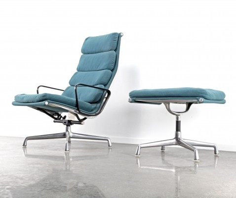 EA222+ EA223 Softpad lounge chair from the eighties by Charles & Ray Eames for Herman Miller