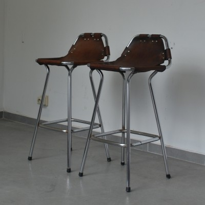 2 stools from the sixties by Charlotte Perriand for unknown producer
