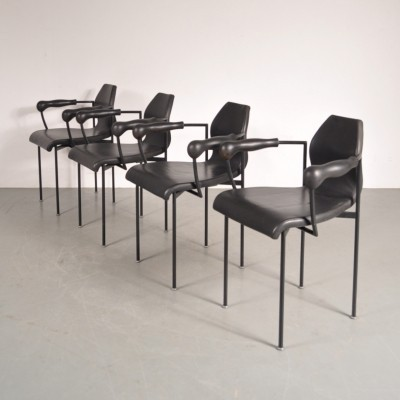 Set of 4 dinner chairs by Marie Christine Dorner for Montis, 1980s