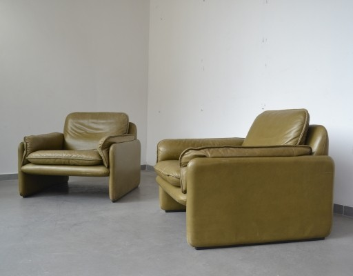 2 x DS-61 lounge chair by De Sede Design Team for De Sede, 1970s