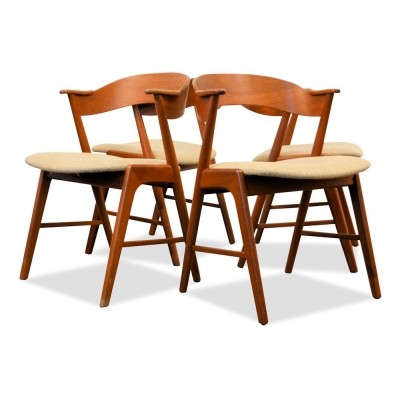 Set of 4 dinner chairs from the sixties by Kai Kristiansen for KS Mobelfabrik