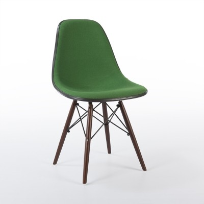 Original Upholstered Eames DSW Dowel Leg Side Chair, 1970s