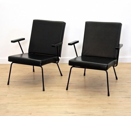 Set of 2 model 1401 lounge chairs from the fifties by Wim Rietveld for Gispen