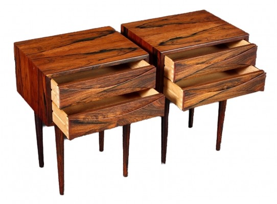 Tall mid century modern night stands in rosewood by Arne Vodder