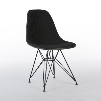2 x Eiffel DSR with Alexander Girard upholstery dinner chair by Charles & Ray Eames & Alexander Girard for Herman Miller, 1960s