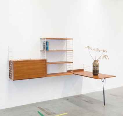 Wall unit from the fifties by Nisse Strinning & Kajsa Strinning for String Design AB