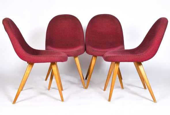 Set of 4 dinner chairs from the sixties by František Jirák for unknown producer