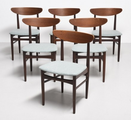 6 dinner chairs from the fifties by unknown designer for unknown producer