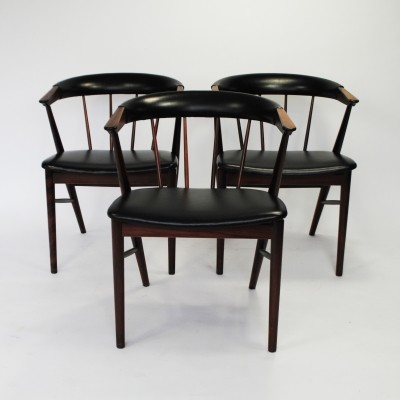 3 dinner chairs from the fifties by Helge Sibast for Sibast