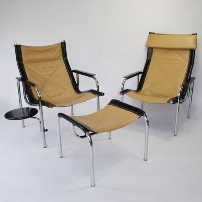 Set of 2 HE lounge chairs from the seventies by Hans Eichenberger for Strässle