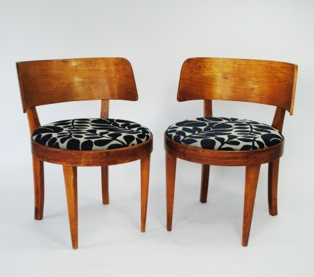 Set of 2 dinner chairs from the forties by unknown designer for unknown producer