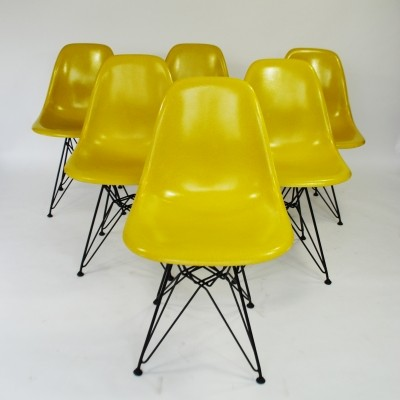 Set of 6 DSR dinner chairs from the fifties by Charles & Ray Eames for Herman Miller