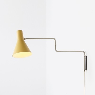 Paperclip 71-01 wall lamp from the fifties by J. Hoogervorst for Anvia Almelo
