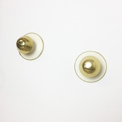 Italian brass wall sconces
