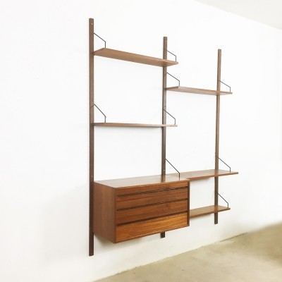 Royal System teak wall unit from the sixties by Poul Cadovius for Cado