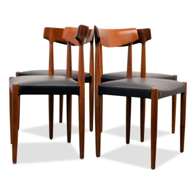 Set of 4 Model 343 dinner chairs from the sixties by Knud Faerch for Slagelse Møbelværk