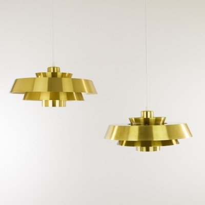 Brass Nova Pendant by Jo Hammerborg for Fog & Mørup, 1960s
