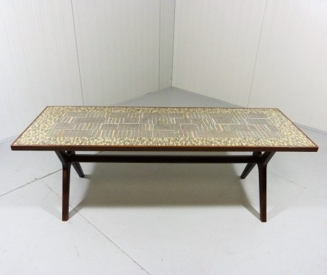 Mosaic coffee table from the fifties by Berthold Müller Oerlinghausen for unknown producer
