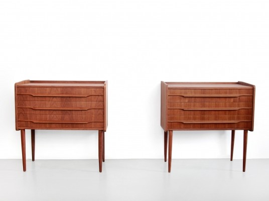2 Nightstand chest of drawers from the fifties by unknown designer for unknown producer