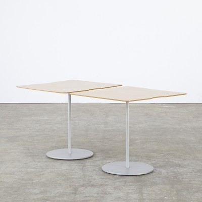 Set of 2 side tables from the eighties by unknown designer for Cassina