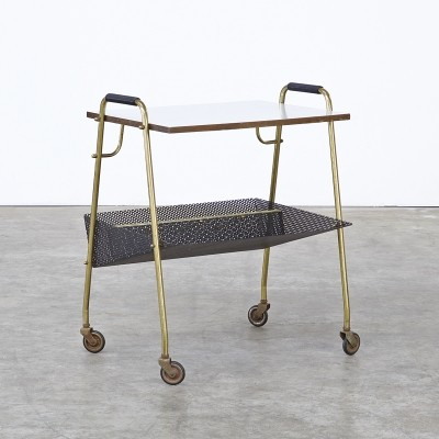 Serving trolley from the sixties by unknown designer for Ilse Möbel