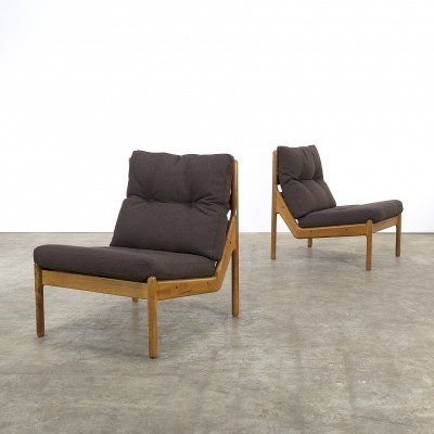 Set of 2 lounge chairs from the sixties by unknown designer for CFC Silkeborg