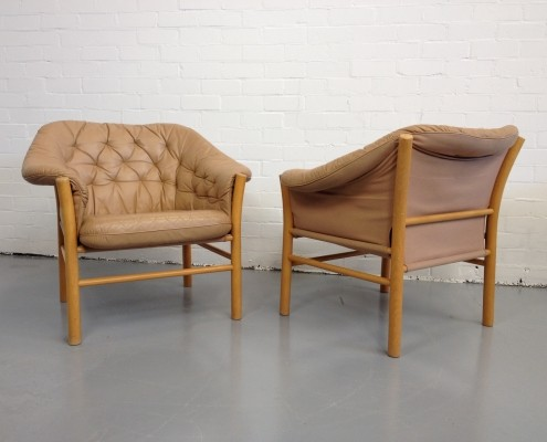 Pair of G Mobel lounge chairs, 1980s