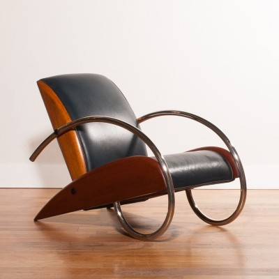 Streamline lounge chair from the eighties by unknown designer for unknown producer