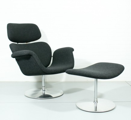 Big Tulip lounge chair from the eighties by Pierre Paulin for Artifort