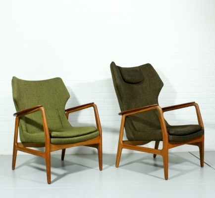 Set of 2 lounge chairs from the fifties by Aksel Bender Madsen for Bovenkamp