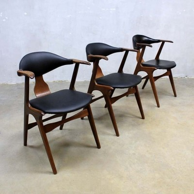 3 dinner chairs from the sixties by Louis van Teeffelen for AWA