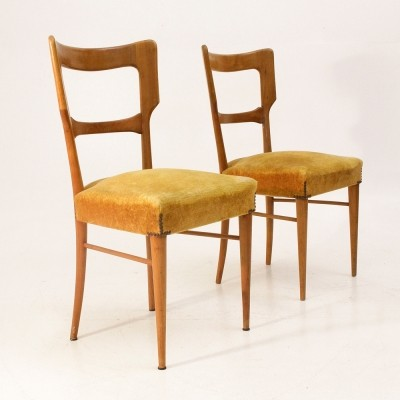 Set of 2 dinner chairs from the fifties by unknown designer for unknown producer