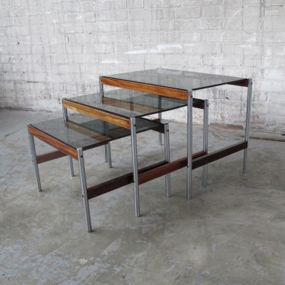 Nesting table from the sixties by unknown designer for Fristho