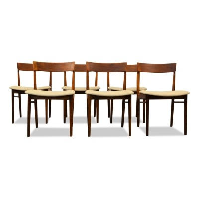 Set of 6 Brande Møbelindustri dining chairs, 1950s