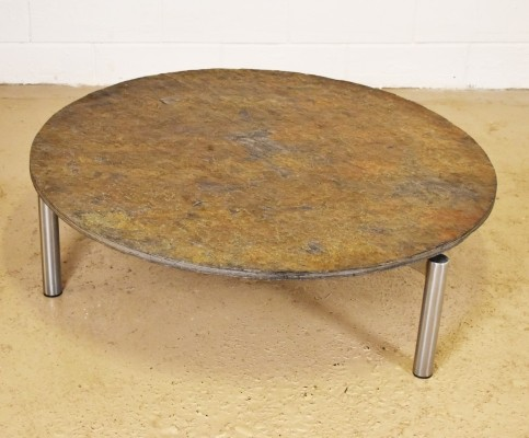 Brutalist coffee table from the seventies by unknown designer for unknown producer