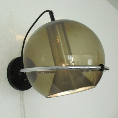 Globe wall lamp by Frank Ligtelijn for Raak Amsterdam, 1960s