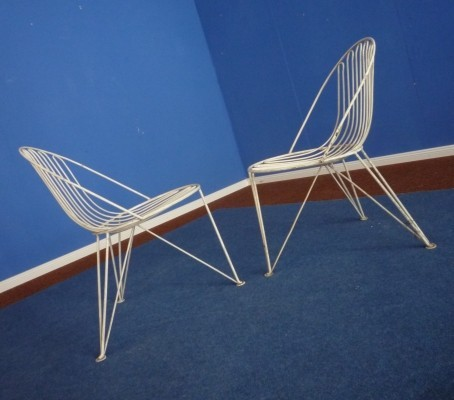 Set of 2 dinner chairs from the fifties by unknown designer for Mauser