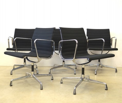 8 EA108 Hopsak office chairs from the nineties by Charles & Ray Eames for Vitra