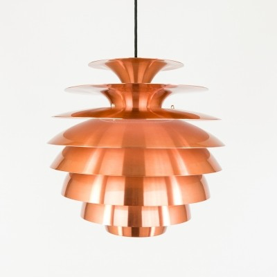 Copper multi shaded Barcelona pendant by Form Light, 1970s