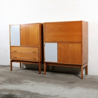 2 cabinets from the fifties by Jos de Mey for Van Den Berghe Pauvers