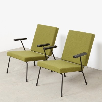 Pair of model 1407 lounge chairs by Wim Rietveld for Gispen, 1950s