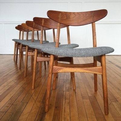 Set of 6 CH-30 dinner chairs from the fifties by Hans Wegner for Carl Hansen & Son