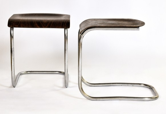 Set of 2 Piccolo stools from the thirties by Mart Stam for Mücke Melder