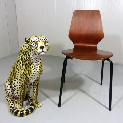 Italian Stoneware Leopard from the sixties