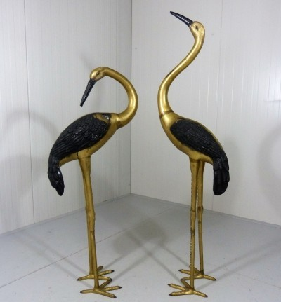 Giant Brass Cranes from the sixties by unknown designer for unknown producer