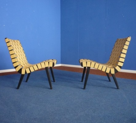 Pair of Vostra lounge chairs by Jens Risom for Walter Knoll, 1950s
